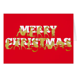 Merry christmas written in ponies! greeting card
