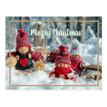 Merry Christmas x-mas baby doll Postcard