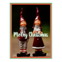 Merry Christmas x-mas little elves postcrossing Postcard