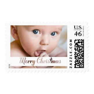 Merry Christmas Xmas Baby Family Photo Stamp