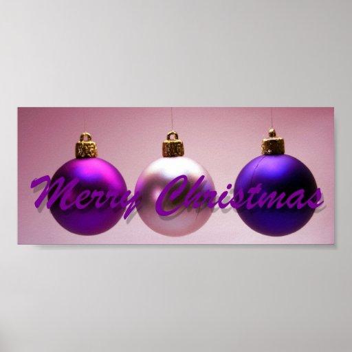 Merry Christmas Xmas Balls Christmas Spirit Art Print