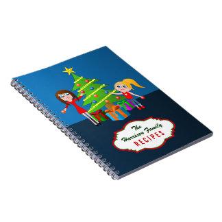 Merry Christmas Xmas Family Recipes Notebooks Note Books