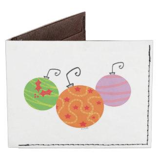 Merry Christmas - Xmas tree decoration balls Billfold Wallet