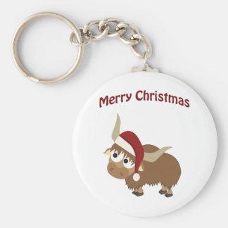 Merry Christmas! Yak Keychain