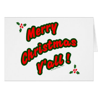 Merry Christmas Y'all! Card