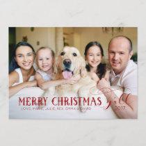 Merry Christmas Y'All - Family PhotoCard Holiday Card