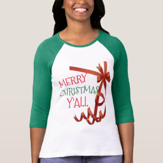 merry christmas y'all gift wrapper t-shirt design