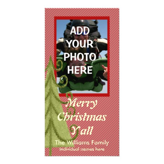 Merry Christmas Y'all Photo Card