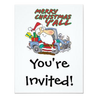 merry christmas yall redneck santa card