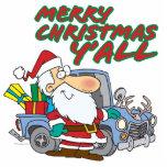 merry christmas yall redneck santa photo cutout