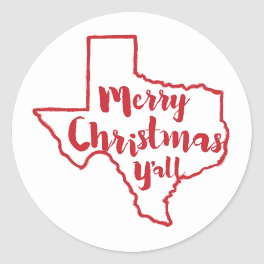 merry christmas yall texas state stickers