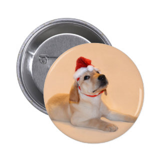 Merry Christmas - Yellow Lab Button