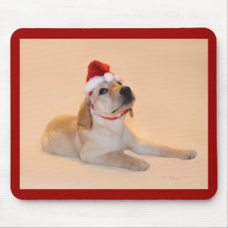 Merry Christmas - Yellow Lab Mouse Pad