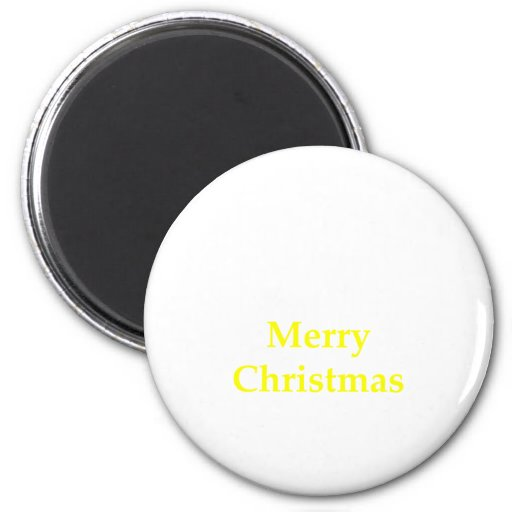 Merry Christmas Yellow The MUSEUM Zazzle Gifts Refrigerator Magnets
