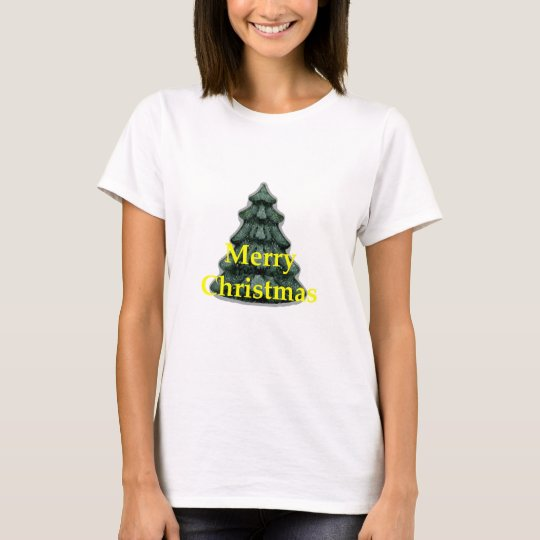 Merry Christmas Yellow The MUSEUM Zazzle Gifts T-Shirt