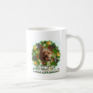Merry Christmas Yorkie Coffee Mug