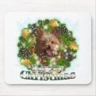Merry Christmas Yorkie Mouse Pad