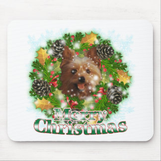 Merry Christmas Yorkie Mouse Pad