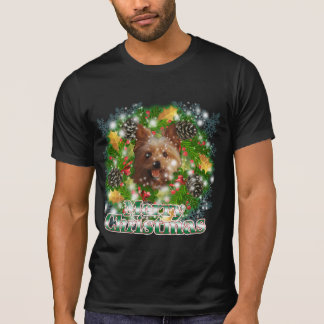 Merry Christmas Yorkie Tee Shirt