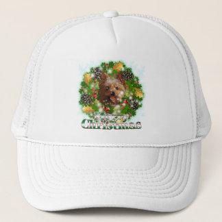 Merry Christmas Yorkie Trucker Hat