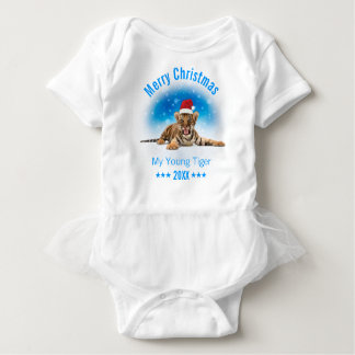 Merry Christmas | Young Tiger Gift Baby Bodysuit