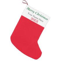 Merry Christmas Your Name Here 2014 Customizable Small Christmas Stocking