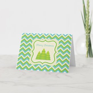 Merry Christmas Zigzag Card