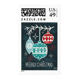 Merry Christmastime Ornaments Postage