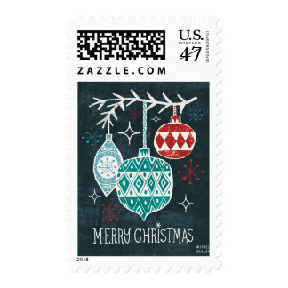 Merry Christmastime Ornaments Postage Stamp