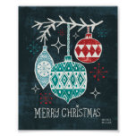 Merry Christmastime Ornaments Poster