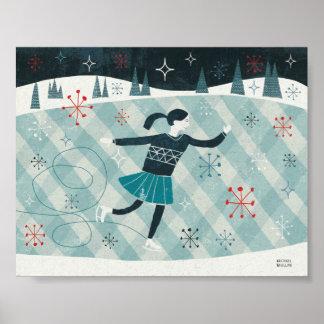 Merry Christmastime Skater Poster