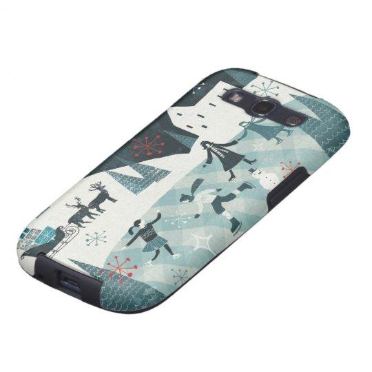 Merry Christmastime Skating Scene Samsung Galaxy SIII Case