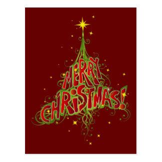 Merry ChristmasTree Postcard