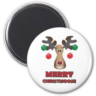 Merry Christmoose! 2 Inch Round Magnet