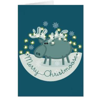 Merry Christmoose Greeting Card