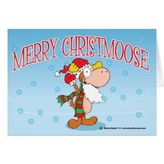 Merry Christmoose Christmas Card Horizontal