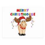 Merry Christmoose Christmas Gift Postcard