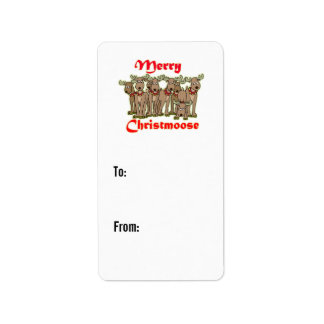 Merry Christmoose gift tags Custom Address Label