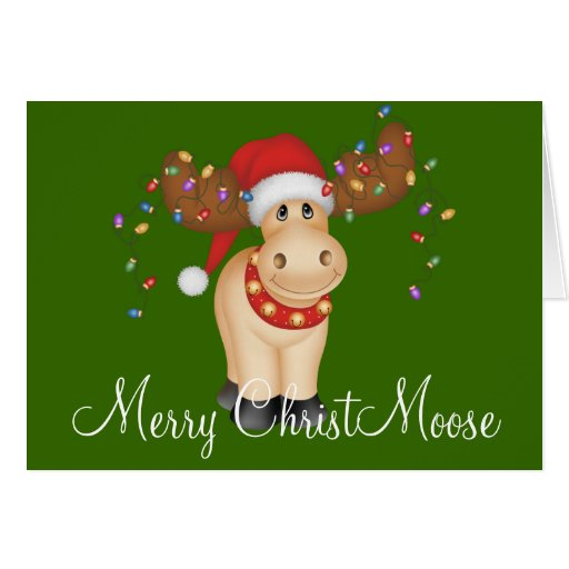 Merry ChristMoose Holiday Greeting Card