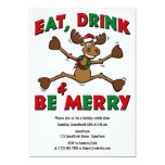 Merry Christmoose Party Personalized Announcements