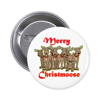 Merry Christmoose Pinback Button
