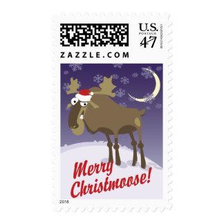 Merry Christmoose Postage