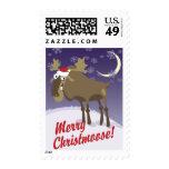 Merry Christmoose Postage Stamp