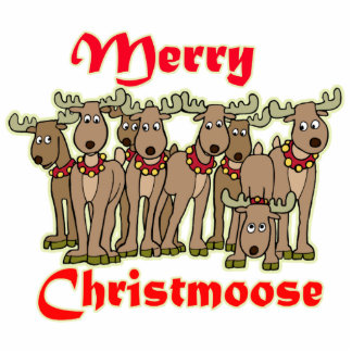Merry Christmoose Statuette