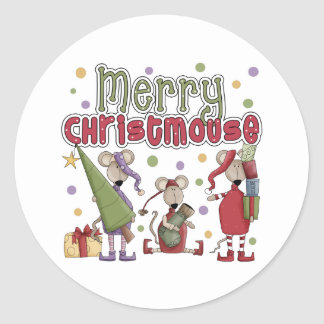 Merry Christmouse Christmas Stickers