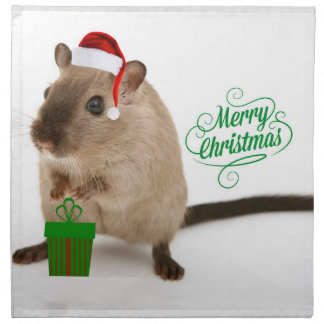 Merry Christmouse Cloth Napkin