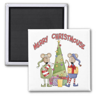 Merry Christmouse Magnet
