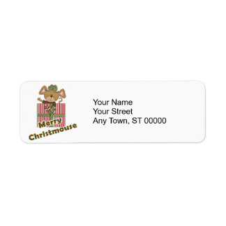 merry christmouse mouse return address label