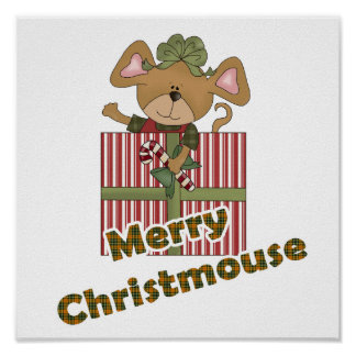 merry christmouse mouse poster