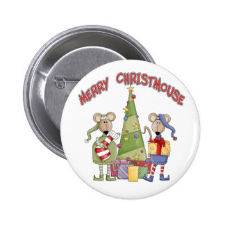 Merry Christmouse Pinback Button